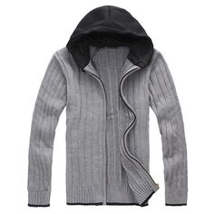 Sweaters Men's Plus Size Sweaters High Quality Grey Black