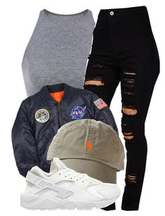 """""""NASA"""" by queenc98 ❤ liked on Polyvore featuring Alpha Industries and NIKE"""