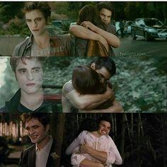 Change in Edward's face! Twilight Jacob, Twilight Edward, Twilight Cast, Twilight Book, Twilight New Moon, Vampire Twilight, Twilight Scenes, Twilight Saga Quotes, Twilight Saga Series