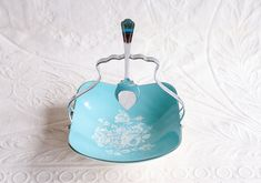 Midwinter Stylecraft Preserve Dish with Removable Handle and Spoon | Blue and White