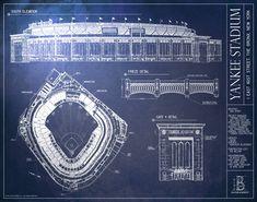 Yankee stadium blueprints via muralsyourway would love to yankee stadium new york yankees malvernweather Image collections