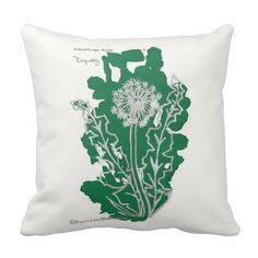 Dandelion Puff FloriograPhy Inkblot Pillows