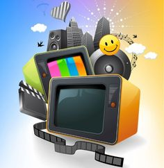 Colorful Media Entertainment - Free Vector Graphic