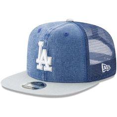 Los Angeles Dodgers New Era Rugged Trucker Original Fit 9FIFTY Adjustable Snapback Hat - Navy/Gray - $29.99