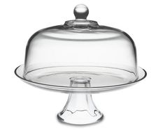Domed Cake Plate that can be flipped over and used as a punch bowl.