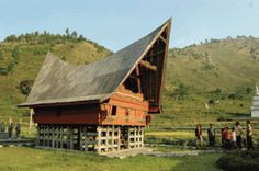 North Sumatra Province or Sumut Traditional House : Rumah (House) balai batak toba