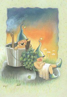 Kaarina Toivanen Funny Drawings, Cartoon Drawings, Creation Photo, Best Cleaning Products, Fantasy Illustration, Winter Art, Goblin, Faeries, Illustrations