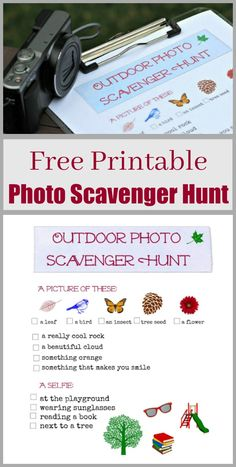 Kids, tweens and teenagers will LOVE this free printable photo scavenger hunt! Great summer or weekend activity, fun party game and creative way to get kids outside and learn photography skills! Scavenger Hunt Birthday, Photo Scavenger Hunt, Scavenger Hunt For Kids, Weekend Activities, Activities For Kids, Spring Activities, Camping Activities, Outdoor Activities, Outdoor Scavenger Hunts