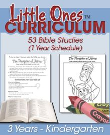 If you're part of a small church that can't afford to purchase curriculum for the children, here's a simple and solid program from Calvary Chapel that is free.