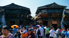 This bustling ancient town is where Modern Marco Polo begins his journey along the Grand #Canal! Tangqi Ancient Town is renowned as a #water town built along the river.