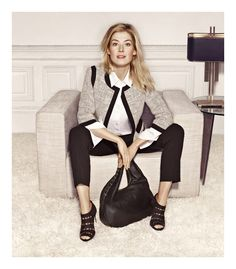 L.K.Bennett - Rosamund Pike's airbrushed face is little OTT but I like the lines of this work outfit