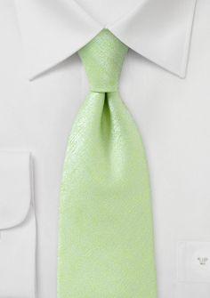 Auffallende Krawatte unifarben marmoriert hellgrün