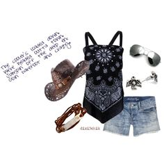 Love the top! Barefoot and Crazy, created by dixi3chik on Polyvore