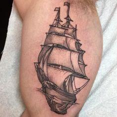 @rachelhauer #tattoo #sailboat #veliero #tattooed #ink #inked #inkart #tattooart #tattoolife #tattoolove #tattoopassion #tattooinspiration #tattocommunity #lamoglietatuata