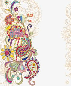Border Design, My Design, Flower Png Images, Paisley Art, Background Design Vector, Drawing Pics, Drawings, Painted Doors, Pictures To Draw