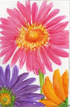 gerber daisy paintings - Google Search