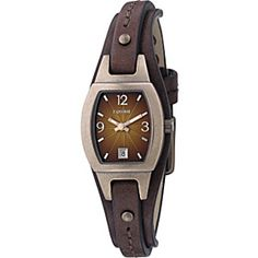 Fossil Ladies brown degrade dial with brown leather strap