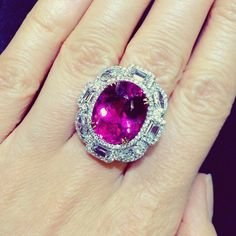 Pink Sapphire Ring, Pink Bling, Body Jewellery, Diamond Are A Girls Best Friend, Ring Designs, Heart Ring, Fine Jewelry, Amethyst, Gemstone Rings
