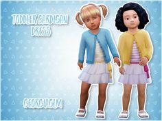 Toddler girls cardigan dress combo