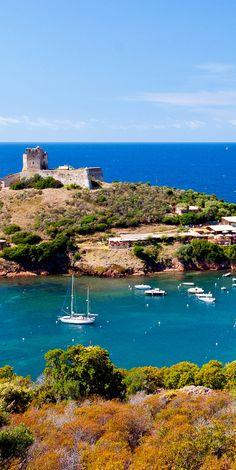 Girolata Bay in natural reserve of Scandola ~ Corsica, France