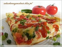 Pizza pan (recipe by clicking on the picture) Bar Grill, Polish Recipes, Bruschetta, Vegetable Pizza, Casserole, Hamburger, Stromboli, Baked Potato, Spicy