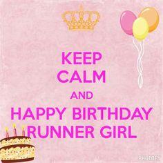 Happy Birthday Runner Girl
