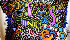 Psychedelic Visionary Urban Abstract Artwork  Drawing by HellP Art 2010