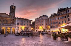Evening in Trastevere. Rome Luxury Apartments www.romesweethome.com