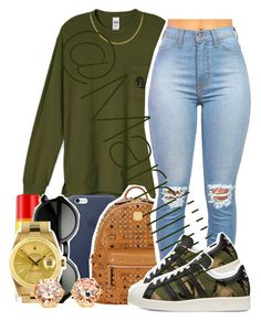 """""""Its Cold as Balls in Va"""" by marriiiiiiiii ❤ liked on Polyvore featuring Carmex, Rolex, MCM, adidas Originals, women's clothing, women's fashion, women, female, woman and misses"""