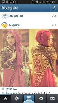 Backless jacket (limited edition) exclusively by Dian Pelangi Muslim Fashion, Modest Fashion, Hijab Fashion, Batik Kebaya, Hijab Wear, Hijab Bride, Cover Style, Muslim Dress, Muslim Women