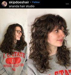 Haircuts For Wavy Hair, Curly Hair With Bangs, Curly Hair Cuts, Cut My Hair, Curly Hair Styles, Mullet Hairstyle, Aesthetic Hair, Grunge Hair, Hair Looks