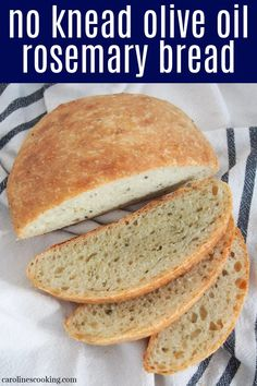 This no knead olive oil rosemary bread takes minimal prep and the result is a deliciously aromatic artisan-style loaf. It has a great flavor that is perfect with simple toppings or alongside a meal. Best Bread Recipe, Easy Bread Recipes, Pastry Recipes, Rosemary Bread, Healthy Side Dishes, Healthy Sides, No Knead Bread, Spring Recipes, Dinner Rolls