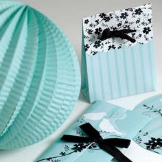 I love the little touch of black & White with mostly the blue/aqua and white as the main colors