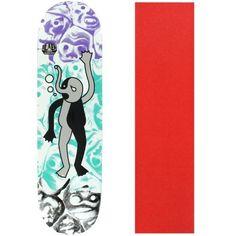 Alien Workshop Skateboard Deck Premonitions Drowning 8.375' Red Grip, Black