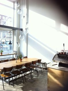 communal table | at hopper coffee | rotterdam, netherlands