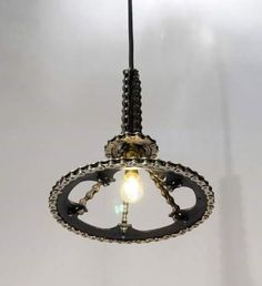 Luminária feita por j.n.almeida