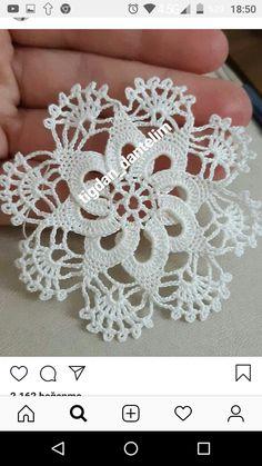 Crochet Tunic Pattern, Crochet Snowflake Pattern, Crochet Flower Tutorial, Crochet Butterfly, Crochet Snowflakes, Crochet Diagram, Crochet Squares, Crochet Motif, Crochet Designs