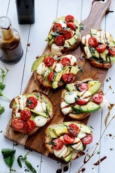 Up the ante with your avocado on toast. Why not try grilled avocado caprese crostini?