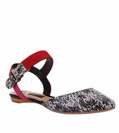 Black, White & Red D'orsey Shoe