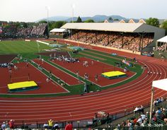 2008 Olympic trials Hayward Field.  Eugene, Oregon  Track City, U.S.A.