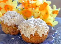 Clean Eating * Healthy Pina Colada Muffin  If this pin is correct....well, I'll have to try and just see if it true...