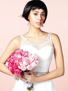 Dress: Jade Daniels, Style Sophia Loren Earrings: Shay Lowe Bracelet: Bitter Sweet Ring: Wedding Studio Reena Green Flowers: Mila Flowers