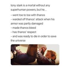 Tony Stark is amazing and I'm SO glad he was one of the IW survivors (Spidey tho T-T) plz oh plz let him make it thru the second movie<< - he died to save the universe Marvel Films, Marvel Memes, Marvel Dc Comics, Marvel Characters, Marvel Avengers, Loki, Tony Stark Wallpaper, Heros Comics, Iron Man Tony Stark