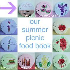 Make a summer picnic food book of art