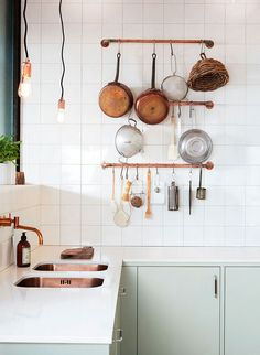 Kitchen storage ideas from the June issue of Inside Out magazine. Photograph courtesy of @ballingslovab.