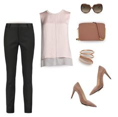 """""""So simple: taupe tones"""" by muse-charming ❤ liked on Polyvore featuring moda, Raoul, Michael Kors, Halcyon Days, Vince, Prada, Fallon y Christian Dior"""