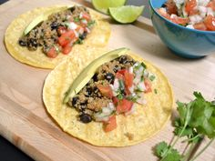 build Quinoa Black Bean Taco. May use rice in place of quinoa.