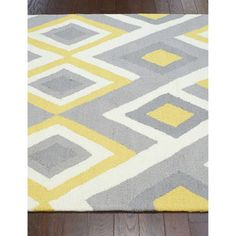 nuLOOM Handmade Geometric Triangle Grey Rug (7'6 x 9'6)   Overstock.com Shopping - The Best Deals on 7x9 - 10x14 Rugs