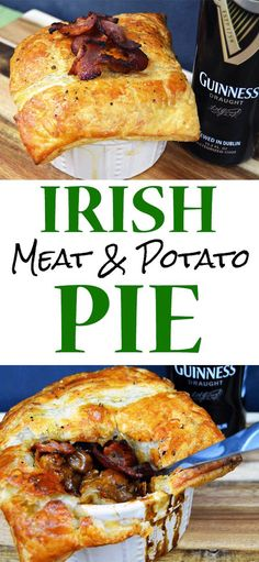 Irish Meat and Potat Irish Meat and Potato Pie - An amazingly easy and authentic Irish lamb and potato pie will get you in the St. Patty's Day spirit any time of the year. Beef Recipes, Cooking Recipes, Irish Food Recipes, Cooking Games, Cooking Bread, Meat And Potatoes Recipes, Recipies, English Recipes, Cooking Wine