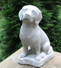 CONCRETE BEAGLE DOG STATUE/ MONUMENT
